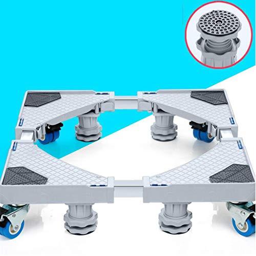 CHGDFQ Muebles Dolly Roller Base móvil Tamaño ajustable con 4 ruedas y 4 pies fuertes de bloqueo, base telescópica pedestal para lavadora portátil refrigerador lavadora secadora