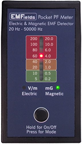 PF5 Pocket Power Frequency Meter (ELF & VLF) for home use: measures electric and magnetic fields (gauss meter)