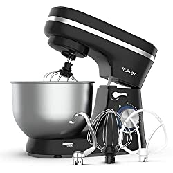 in budget affordable Table mixer KUPPET, 8-speed electric mixer, mixer with tilting head, dough hook, whisk, …