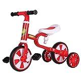 Triciclo Para Niños Con Ruedas Auxiliares Extraíbles, Bicicleta De Equilibrio Para Niños De 2 A 6 Años, Bicicleta De Entrenamiento Deslizante Para Niños Con Asiento Grande, Triciclos ( Color : Red )