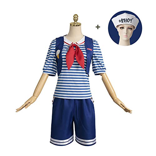PAOFU-Ijs Winkel Assistent Pak Navy Halloween Fancy Dress Cosplay Sailor Kostuum Meisje Voor Volwassenen,Blue,XXXL