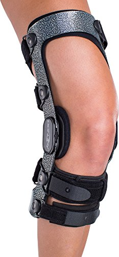 DonJoy Armor Knee Support Brace with Standard Hinge: Short Calf Length, ACL (Anterior Cruciate Ligament), Right Leg, X-Large