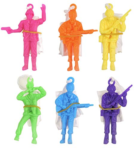 PARACHUTE MEN - PACK OF 6 - Novelty Toys For Children Perfect Party Loot Prize Bag Filler Cool Stuff