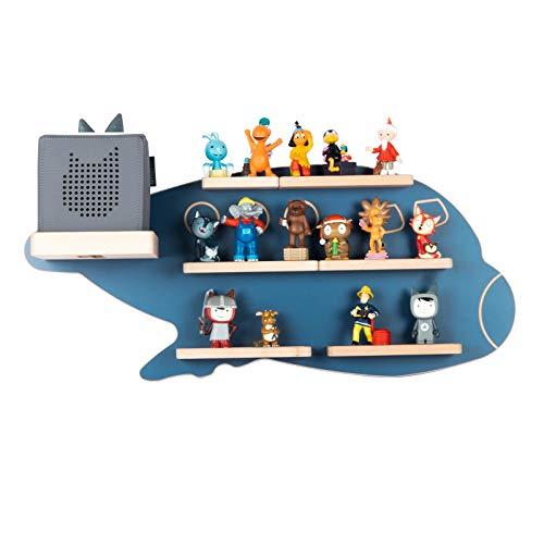 BOARTI Kinder Regal Boeing in Blau - geeignet für die Toniebox und ca. 38 Tonies - zum Spielen und Sammeln