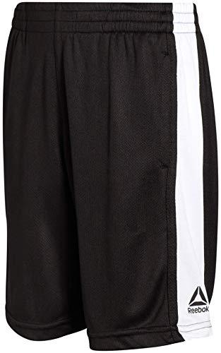 Reebok Boys Basketball Shorts - Performance Athletic Shorts for Boys, Size Small, Black Mesh