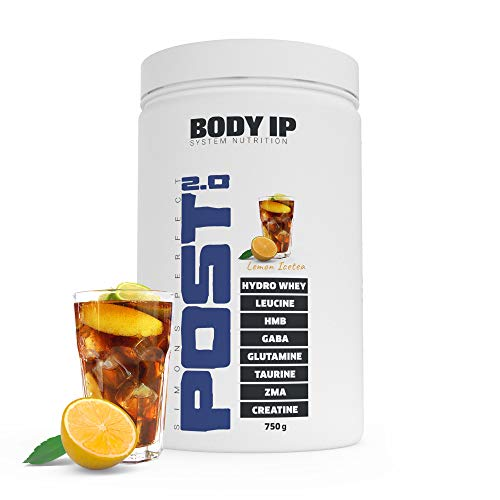 BODY IP Simons Perfect Post Workout 2.0 | Lemon Ice Tea | mit Hydro-Whey, BCAAs, Glutamin, ZMA, Kreatin | der All-in-One Post Workout Shake