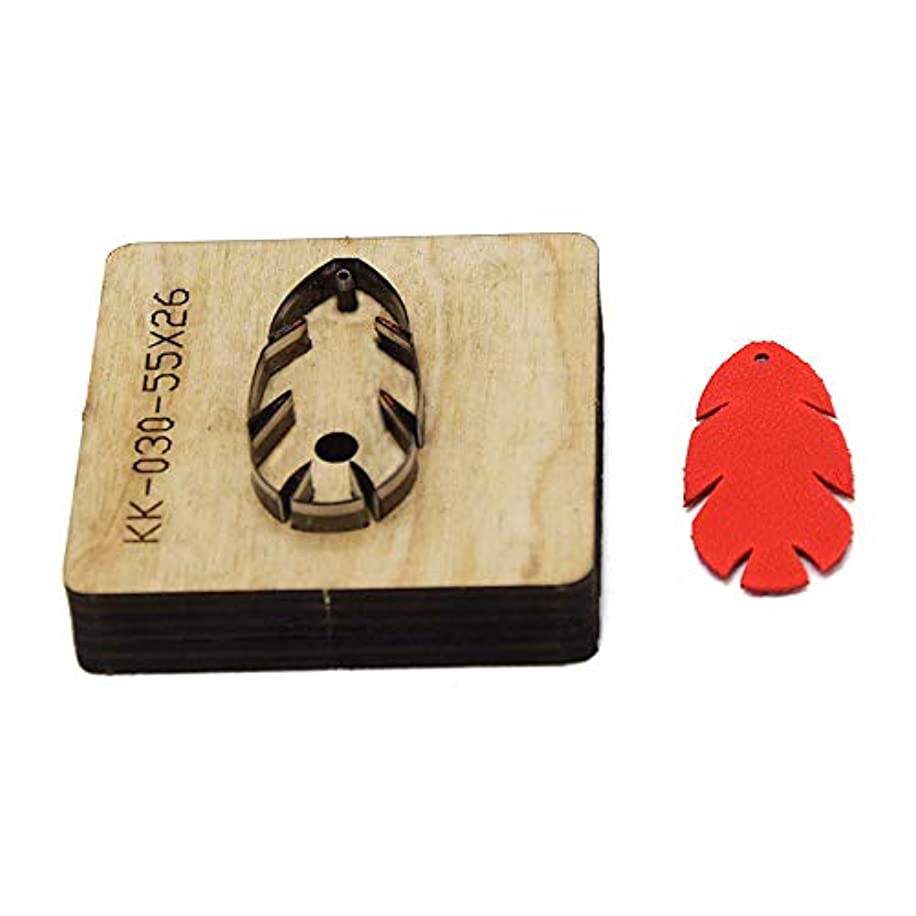 BOERSEN Leather Earring Cutting die Leaf Shape Paper Art Leather Decoration Tool for DIY Handicraft Cutter Handmade Leather Mould (Style5)