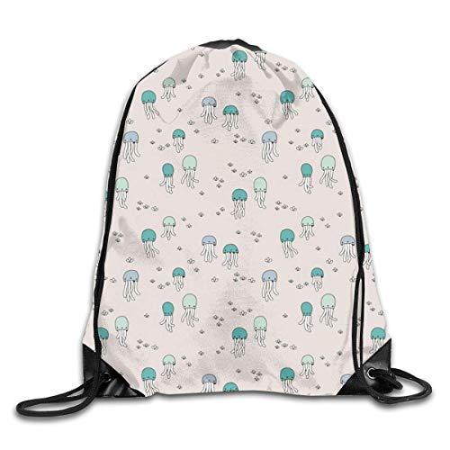 fenrris65 Adorable mochila bajo el agua de gelatina de pescado bebé calamar mar cordón mochila mochila bolsa de hombro deporte gimnasio bolsa de viaje