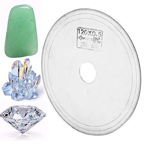 Salmue Corte de Hoja de Sierra de Diamante súper Fino, Hoja de Sierra de Diamante para Cortar Cristal de Piedra Preciosa Esmeralda de Jade, Hoja de Sierra de Diamante de Borde Continuo de Corte