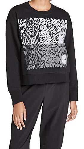 adidas by Stella McCartney Women's Graphic Sweatshirt, Black, Medium