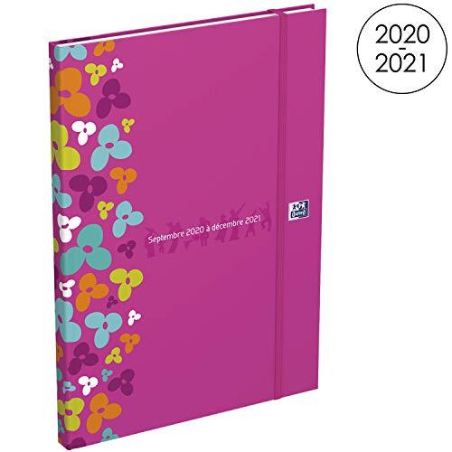 Oxford - Agenda Famiglia 16 mesi di settembre 2020, dic 2021, formato 18 x 25 cm, settimanale 208 pagine, copertina colore fucsia