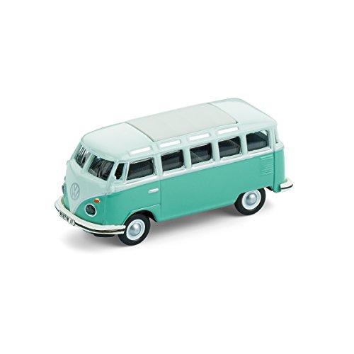 corpus delicti Magnetische Mini-Pinnwand mit Modellauto für alle Auto- und Oldtimerfans – Kultauto VW Bus T1 Samba türkis