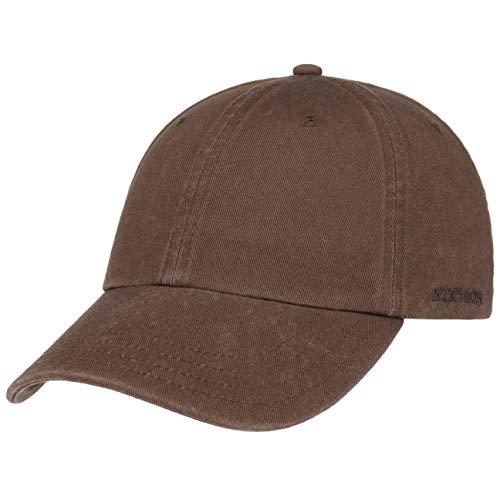 Stetson Rector Basecap - Cap für Damen/Herren - Sonnenschutz-Cap aus Baumwolle (UV-Schutz 40+) - Baumwollcap größenverstellbar (55-60 cm) - Baseballcap Sommer/Winter braun One Size