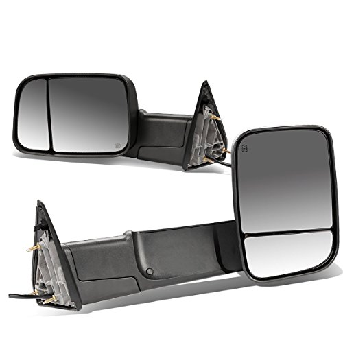 DNA MOTORING TWM-013-T111-BK Pair of Towing Side Mirrors, Driver and Passenger Sides