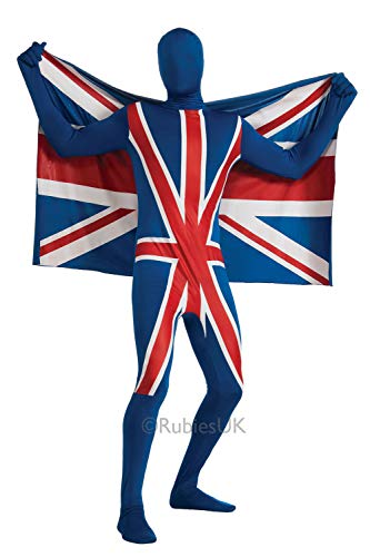 Rubie's-déguisement officiel - Rubie's- Déguisement Combinaison Second Skin Union Jack Drapeau - Taille M- I-880517M