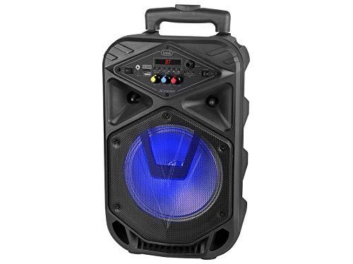 Trevi XFEST XF 350 Altoparlante Amplificato Portatile con Mp3, USB, MicroSD, AUX-in, Bluetooth, Batteria Integrata, Karaoke Party Speaker con Microfono Dinamico con Cavo Incluso