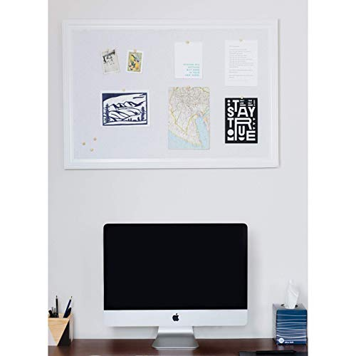 Cork Board with Wood Frame, Multiple Sizes | Bulletin Board | Pin Board | Memo Board | Corkboard | Vision Board Supplies | Cork Board | Cork Board Bulletin Board | Cork Boards | (White, 30X20) Photo #6