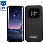 Mbuynow Galaxy S9 Battery Case, 4700mAh Magnetic Rechargeable External Battery Charging Case Slim Extended Backup Power Bank Case for Samsung Galaxy S9, Black