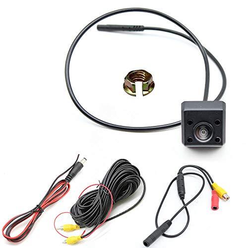 135° achteruitrijcamera YUNRUX LED achteruitrijcamera nachtzicht onderbouw Universal IR video achteruitrijcamera kentekenplaat plaat plaat 6 m videokabel voor auto bus vrachtwagen IP 67