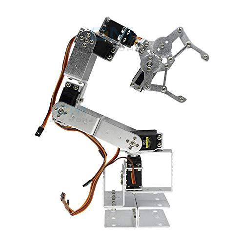 diymore ROT3U 6DOF Alluminio Robot Braccio Meccanico Kit Morsetto per Artigli con MG996R Servos per Uno MEGA2560