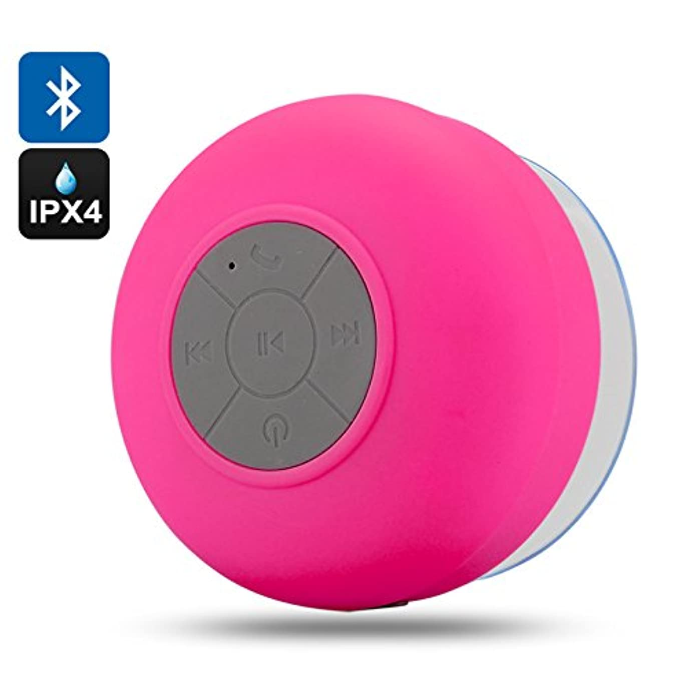 一時停止プレート誤解を招くAquaSound - IPX4 Water Resistant Bluetooth Shower Speaker (Call Answering, Music Control, 400mAh, Red)