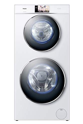 Haier HWD120-B1558U Waschtrockner/A / 1628 kWh/Jahr / 1500 UpM / 12kg / 12800 L/jahr / 2 Trommeln/Direct Motion Motor/Weiß