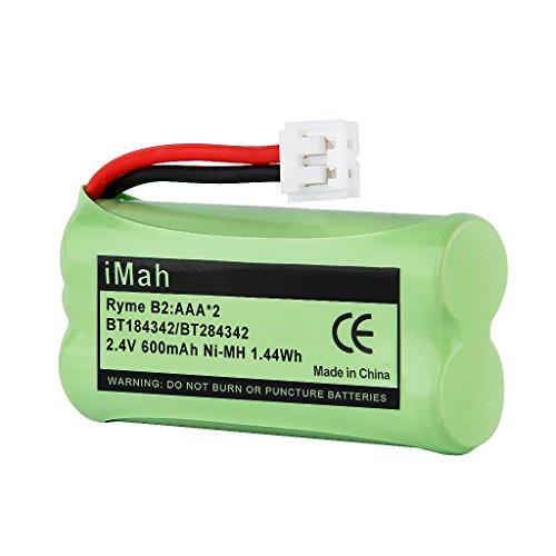iMah BT184342/BT284342 Cordless Phone Battery Compatible with VTech BT18433/BT28433 BT-1011 BT-1018 BT-1022 BT-1031 AT&T CL80109 TL90078 VTech DS6101 CS6209 CS6219 CS6228 CS6229 Handset, Pack of 1
