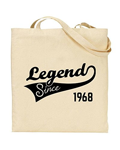 51st Birthday Gift Tote Mam Shopping Cotton Bag Ancient 1968 Aged To Perfection