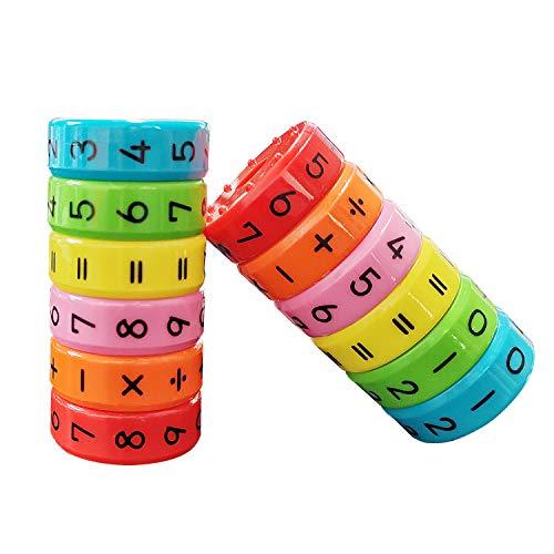 Rechenrolle Mathematik Lernspielzeug Magnetisches Spielzeug zum Rechnen Lernen für Kinder Rubiks Würfel Spielzeug,Kinder Intelligenz Gehirn Entwickeln Kindergarten Belohnung Spielzeug 2PCS