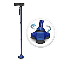 Stabilizes Like a Foot - Just like the human foot, the HurryCane gives you 3 points of contact for superior balance and stability. It naturally simulates your instinctive walking motion. Whether you're sitting or standing, the SteadiGrip base gives y...