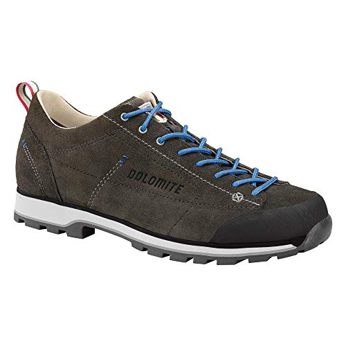Dolomite Unisex-Erwachsene Zapato Cinquantaquattro Low Sneaker, Anthrazit/Blau, 41 1/3 EU