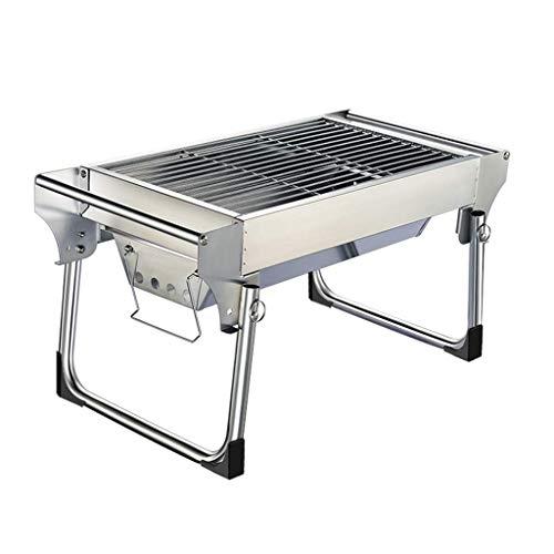 41msrV7z6eL - Außen Barbecue im Freien Holzkohle-Grill, Schreibtisch Edelstahl Folding BBQ Grill Camping Gartengrill Grillzubehör Outdoor-Party DYWFN