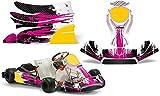 AMR Racing Go-Kart Graphics kit Sticker Decal Compatible with KG Freeline Birel Cadet - Carbon X Pink