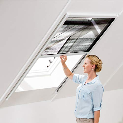Fliegengitter für Dachfenster Plissee Fenstergitter Dach Fenster Insektenschutz