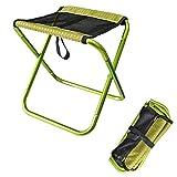 STARKWALL Outdoor Faltfischerei-Stuhl Ultra Light Portable Falten Rucksack Camping Oxford Cloth Aluminum Alloy Picknick Angelstuhl grün