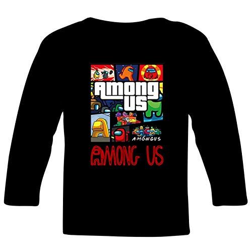 163 Among US You Look Sus Camiseta de manga larga para niñas