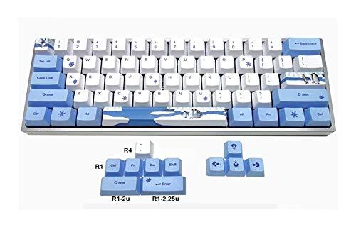 Tapas de teclado For el tema del teclado GK61 GK64 GH60 XD60 XD64 mecánica gruesa PBT tinte Tipo tecla clave perfil adecuado for Interruptor tapas de teclado mecánico