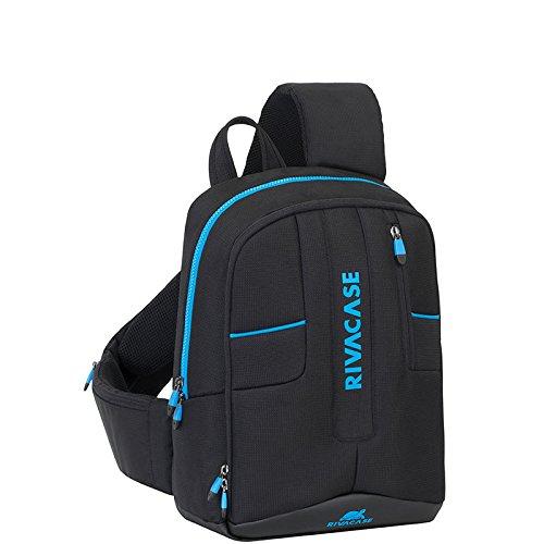 RivaCase 7870 Drone slingbag medium 13.3  - Zaino sling per mini drone + computer portatile fino a 13.3 , Nero