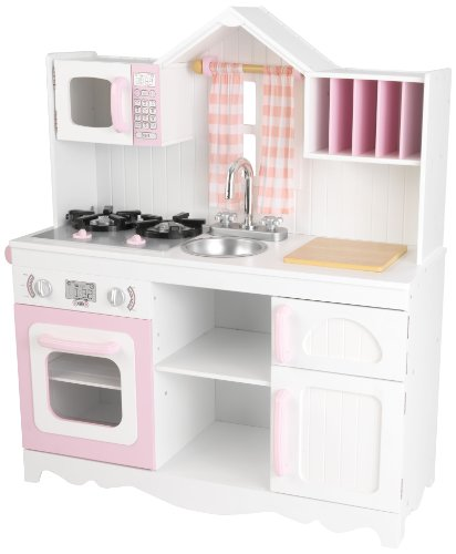 KidKraft 53222 Moderne Country Spielküche, Rosa und Weiß
