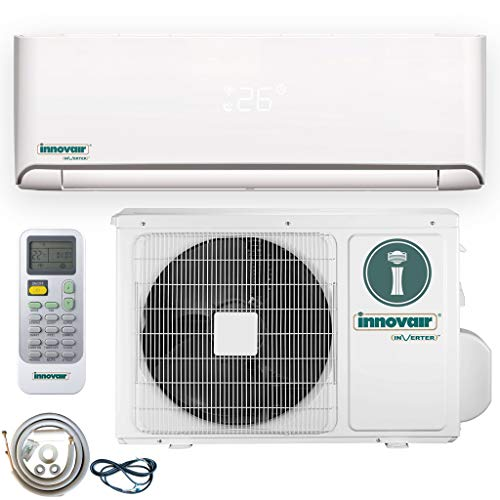 Innovair Air Conditioner Inverter Ductless Wall Mount Mini Split System Heat Pump Full Set with Kit and Wifi (12000 BTUH 115V)