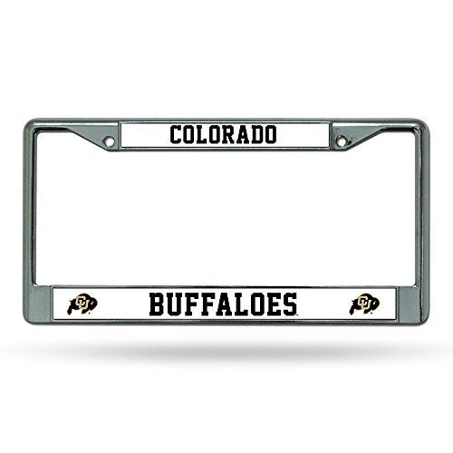 NCAA Rico Industries Standard Chrome License Plate Frame, Colorado Buffaloes