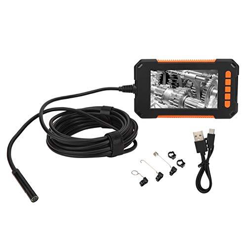 Oumefar Cámara de boroscopio P40 Cámara de endoscopio 1080P Cámara de inspección de Video HD Endoscopio Industrial con Pantalla LED de 4.3 Pulgadas IP67 a Prueba de Agua