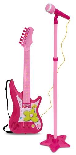 Bontempi- Guitarra eléctrica con Amplificador y micrófono con Soporte (Spanish Business Option Tradding 24 7571)