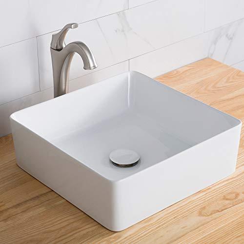 Cheap Kraus KCV-202GWH Viva Bathroom Vessel Sink, White L x 15.55 W