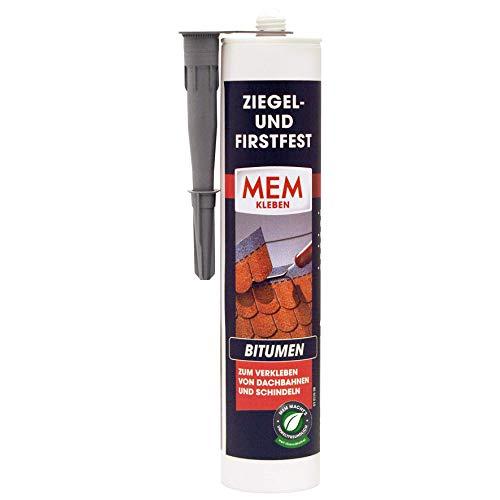 MEM 30836556 Klebstoff-für Schindeln, Bitumen-Dachbahnen, unkaschierte Wärmedämmplatten Ziegel-und Firstfest Imf 445g, Schwarz, 445 g