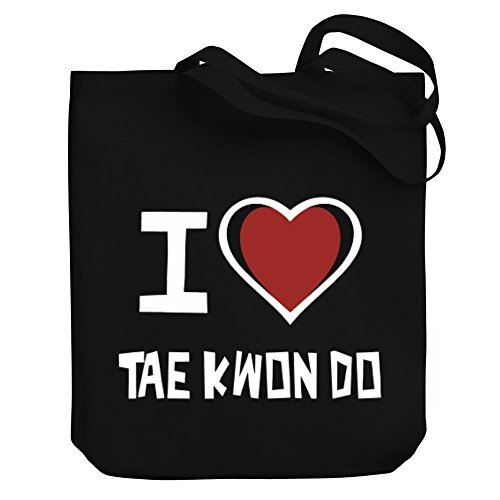 Valentine Herty Shopping bag I love Tae Kwon Do tela Tote Bag
