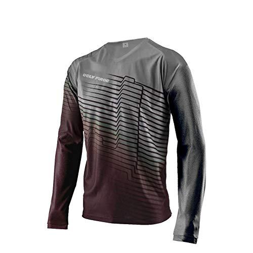 Uglyfrog Bike Wear Atmungsaktiv Trendy Herren Downhill/MTB Jersey Mountain Bike Shirt Fahrradtrikot Langarm Freeride BMX Fr¨¹Hling Top F10