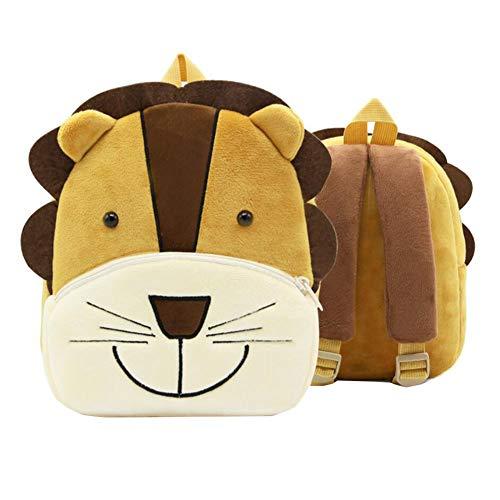 Lion mignon Sac à dos pour tout-petit Sac pour enfants Petit sac de voyage à motif animalier pour bébé fille garçon 2-4 ans Cadeau de noel cadeau d'anniversaire Q