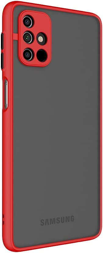 Case for Samsung Galaxy M31S Case [Protect from Fingerprint/Shock/Scratch/Slip] Shockproof Hard PC Back with Soft TPU Bumper Slim Protective Phone Cover for Samsung Galaxy M31S (Red)