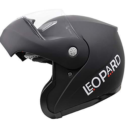 Leopard LEO-717 Casco Moto Modular ECE Homologado Casco de Moto Scoote